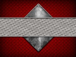 Red and Gray Diamond Plate Presentation Backgrounds