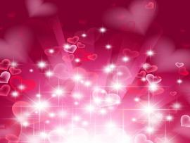 Red and White Heart Heart In Pink Quality Backgrounds
