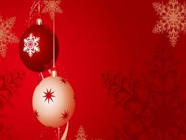 Red Bubles Christmas Backgrounds