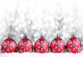Red Christmas Ornaments Clipart Backgrounds