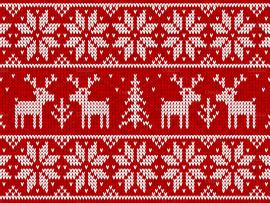 Red Ugly Christmas Sweater Photo Backgrounds