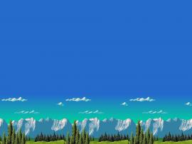 Retro Games Mountain 8 Bits HD  Desktop and Mobile   Photo Backgrounds