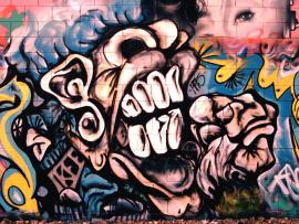 Romantic Graffiti Image Slides Backgrounds