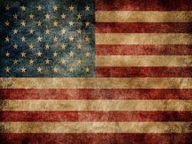 Rustic American Flag Slides Backgrounds