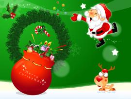 Santa Claus Christmas Graphic Backgrounds