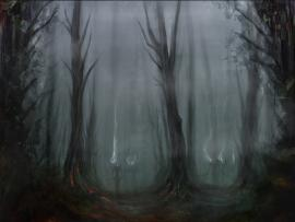 Scary Forest Slides Backgrounds