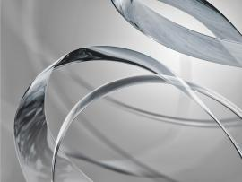 Silver Abstract Lines Free PPT For Your PowerPoint   image Backgrounds