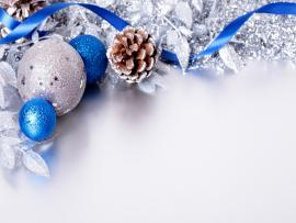 Silver and Blue Christmas Presentation Backgrounds