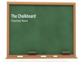 Simple PowerPoint Blackboard Backgrounds