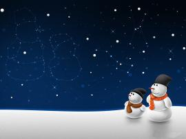 Snow Man Winter Night Holiday Frame Backgrounds