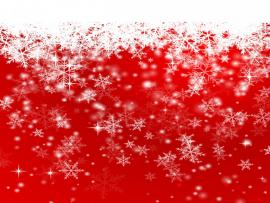 Snowflakes On A Red Christmas Clipart Backgrounds