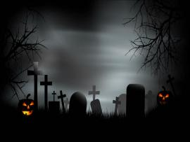 Spooky A Creepy Graveyard Halloween Scene With Graves  Quality Backgrounds