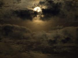 Spooky Moon  Full Moon Cloudy Night On The Texas Gulf  Clipart Backgrounds