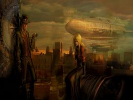 Steampunk Widescreen Images Presentation Backgrounds