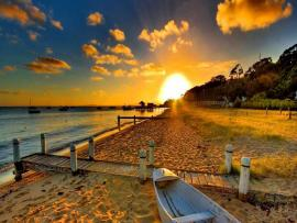 Summer Sunset Design Backgrounds