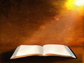 Sunset Open Bible Wallpaper Backgrounds