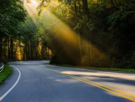 Sunshine Road Presentation Backgrounds