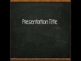 Superb PowerPoint Free Template BlackBoard Picture Backgrounds