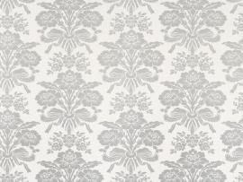 Tatton Silver Damask Backgrounds