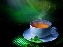 Tea Cup Green Graphic Backgrounds