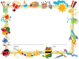 Template For Kids Editable  Diploma Certificate Templates For Art Backgrounds