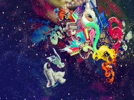 Trippy Space Psychedelic Backgrounds