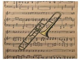 Trombone With Sheet Music Napkins  Zazzle Wallpaper Backgrounds