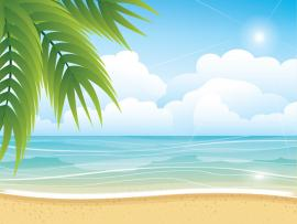 Tropical Summer Beach Art Backgrounds
