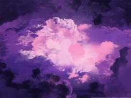 Two Magical Purple Sky Backgrounds