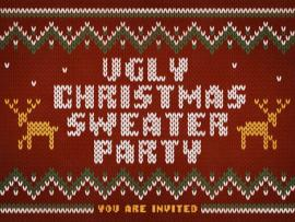 Ugly Christmas Sweater Party Graphic Backgrounds