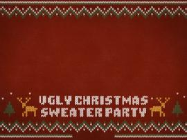 Ugly Christmas Sweater Party Walpaper Images Design Backgrounds