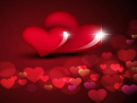 Valentine Day Love With Bokeh Hearts Vector Illustration   Art Backgrounds