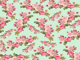 Vintage Roses Floral Design Backgrounds