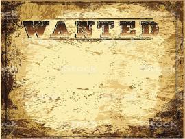 Vintage Wanted Poster Slides Backgrounds