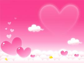Violet Heart Clouds Backgrounds
