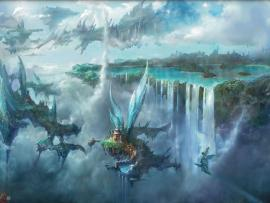 Wallpapers For > Final Fantasy Landscape Hd Backgrounds