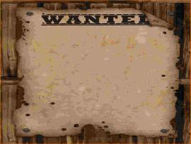 Wanted Poster Frame Backgrounds