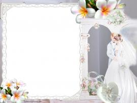 Wedding Double Hearts For PowerPoint  Miscellaneous PPT   Download Backgrounds
