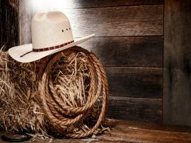 Western Straw Rope Presentation Backgrounds