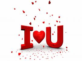 White and Red I Love You Art Backgrounds