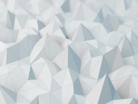 White Low Poly Abstract Art Backgrounds