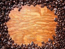 Whole Coffee Beans Arranged Around An  Quality Backgrounds