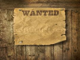 Wild West Wanted Poster On Old Wooden Wall Slides Backgrounds