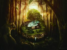 Wildlife Jungle Fantasy Art Backgrounds