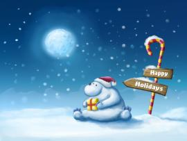 Winter Happy Holiday Wallpaper Backgrounds