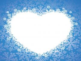 Winter Heart Blue Love Backgrounds