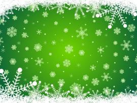 With Snowflakes Green Christmas Template Backgrounds