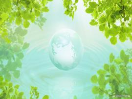 Wonderful Green Nature Template Backgrounds