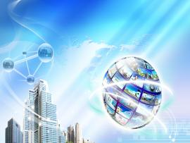 World Buildings Technology Frame Backgrounds