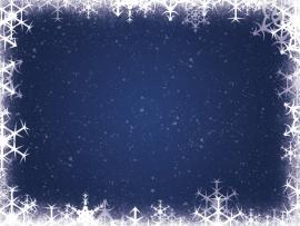 Xmas Snowflakes Frame Picture Backgrounds